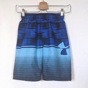 UnderArmour Blue Youth Small Swim Shorts